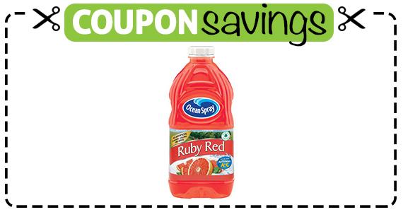 Save $1 off Ocean Spray Grapefruit Juice