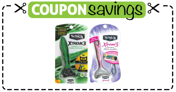 Save $3 off Schick Disposable Razor Pack