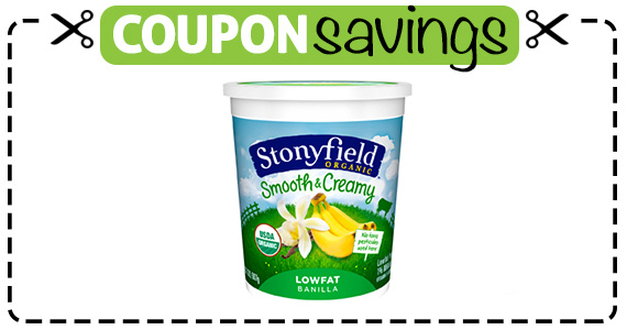 Save $2.50 off 2 Stonyfield Organic Yogurts