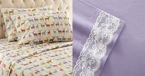 Win 1 of 3 Micro Flannel Sheet Sets