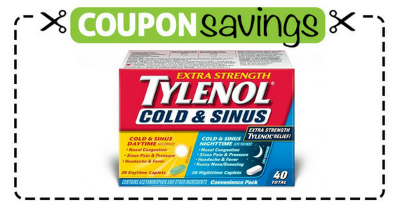 Save $1 off Any Tylenol Cold & Sinus Product