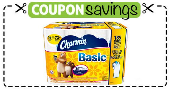 Save $1 off Charmin Basic Bathroom Tissue