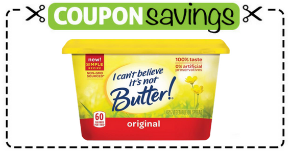 Save $1 off I Can't Believe It's Not Butter