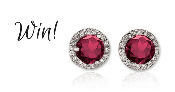 Win a Set of Ruby and Diamond Earrings