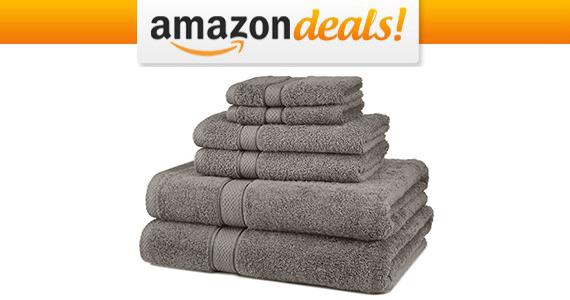 Pinzon Egyptian Cotton 6-Piece Towel Set For Only $18.69