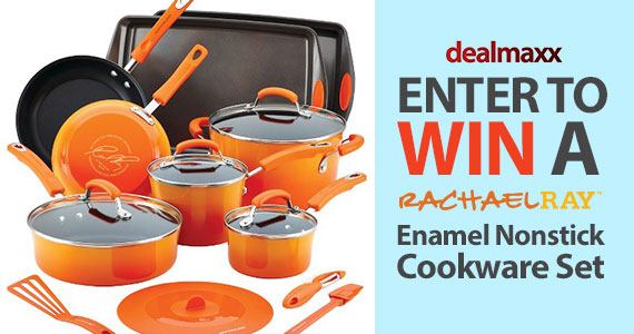 Win a 16-Pc Rachael Ray Cookware Set