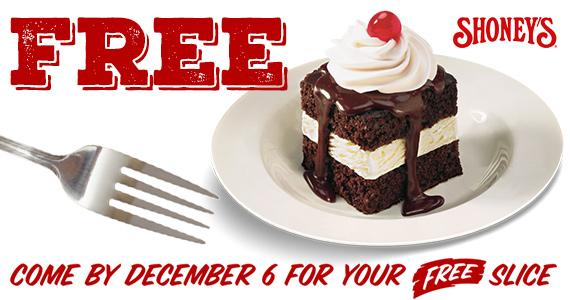 Free Hot Fudge Cake On 12/6