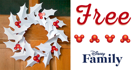 Free Mickey Paper Wreath