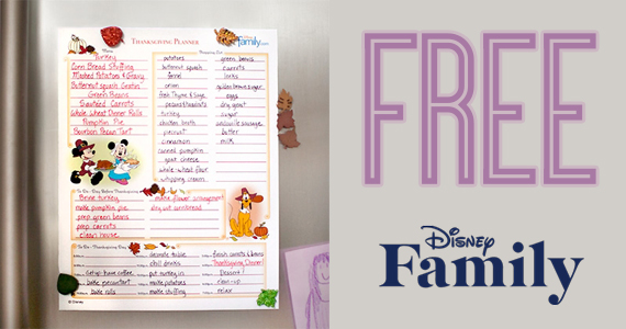 Mickey and Minnie's Thanksgiving Planner