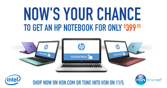 Get an Intel HP Touch Laptop For Only $399.95