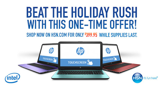 Get an Intel HP Touch Laptop For Only $399.95 + FREE SHIPPING