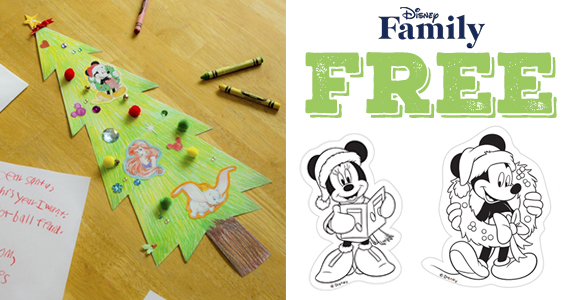 Printable Mickey and Friends Decorate The Tree Template