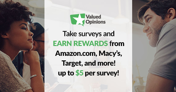 Earn Up To $5 Per Survey With Valued Opinions