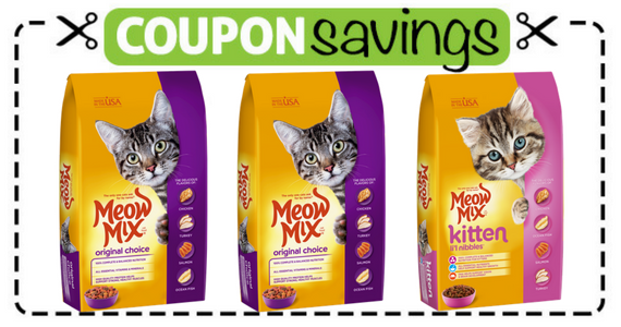 Save $1 off one bag of Meow Mix