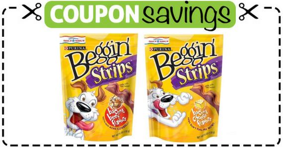 Save $3 off 2 Purina Beggin' Dog Treats