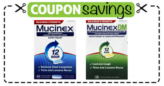 Save $3 off Mucinex 12 Hour Product