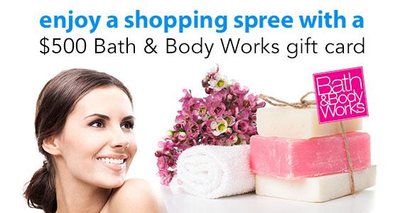 Win a $500 Bath & Body Works Gift Card