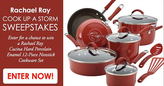 Win a 12-Piece Rachael Ray Cookware Set