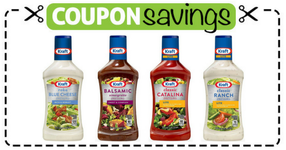Save $1 off 2 KRAFT Salad Dressings