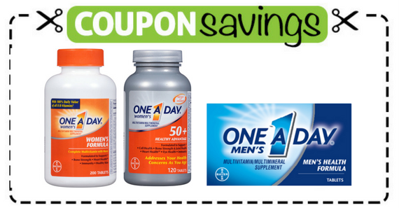 Save $2 off one One-A-Day Multivitamins