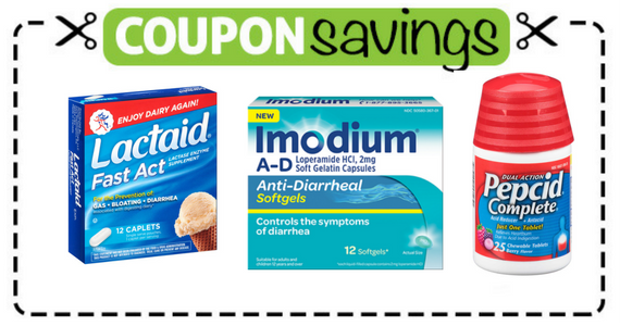 Save $3 off Lactaid, Immodium or Pepcid