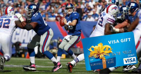 Win $1,000 Visa Gift Card & Tickets to Pro Football