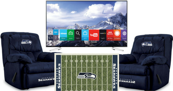 Win a Seahawks Man Cave with a 75 Inch TV