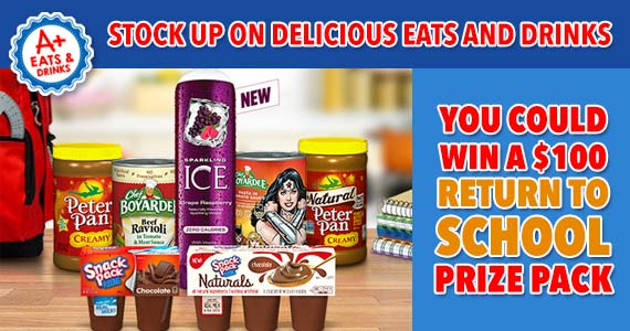 Win an A+ Eats and Drinks Return to School Prize Pack