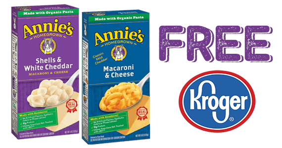 Free Box of Annie's Natural Mac & Cheese From Kroger