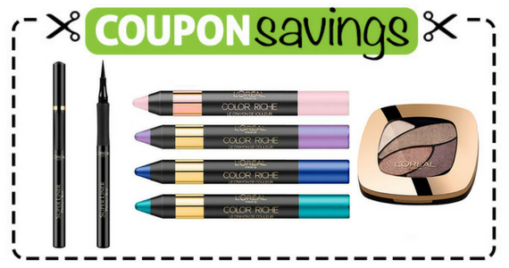 Save $1 off 1 L'Oréal Eyeliner or Eye Shadow