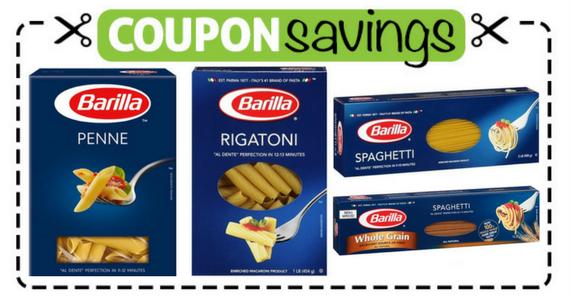 Save $1 off any 4 Barilla Pastas