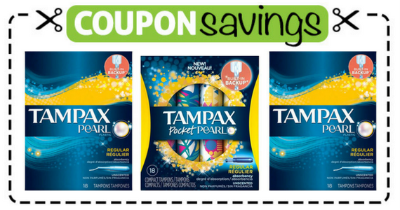 Save $1.50 off 2 Tampax