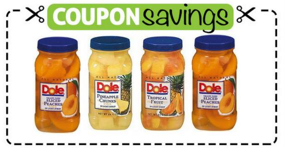 Save $2 off 2 Dole Jarred Fruit