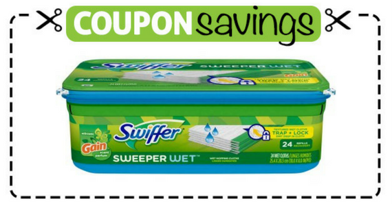 Save 75¢ off one Swiffer Sweeper Wet Refills