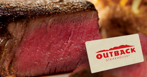 Win 1 of 5 $100 Outback Steakhouse Gift Cards