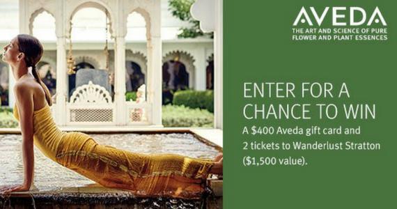 Win a $400 Aveda Gift Card
