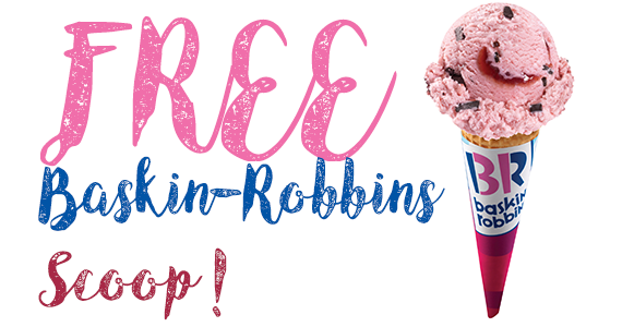 Get a Free Regular Scoop at Baskin-Robbins