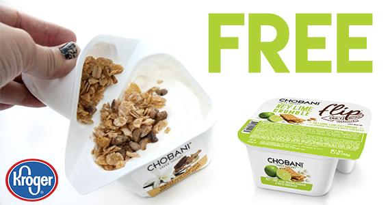 Free Chobani Flip Greek Yogurt From Kroger