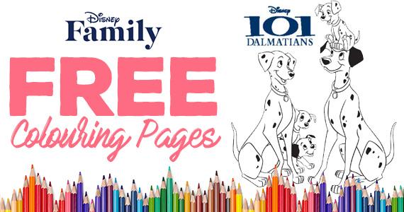 Free 101 Dalmatians Coloring Page