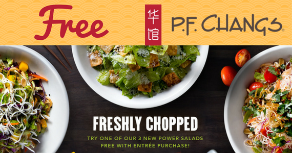 Free Entree Salad From P.F. Chang's
