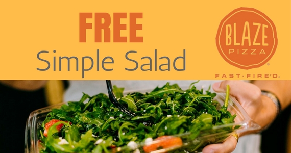 Free Simple Side Salad at Blaze Pizza