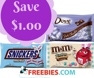 Save $1 off any 2 MARS Easter Items