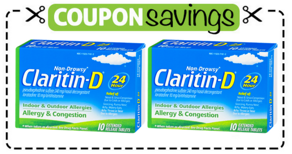 Save $4 off Claritin-D Allergy