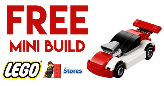 Free LEGO Mini Model Build Event – Race Car