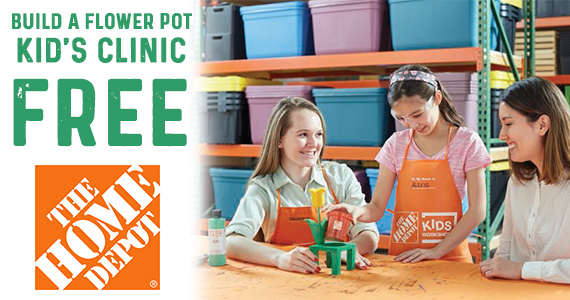 Build A Flower Pot – Kid's Clinic at Home Depot