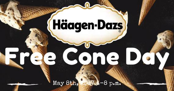 Free Cone Day at Haagen-Dazs