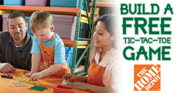 Build A Tic Tac Toe Game – Kid's Clinic at Home Depot