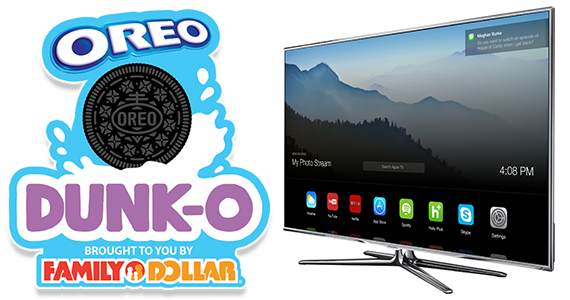 Win an HD TV plus a $25 Family Dollar Gift Card