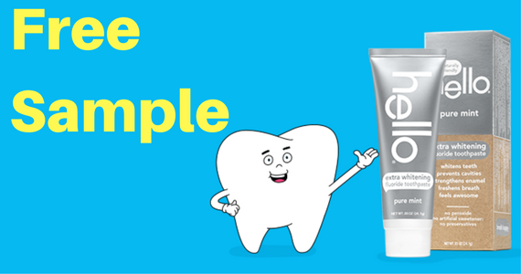 Free Sample of Hello Extra Whitening Toothpaste