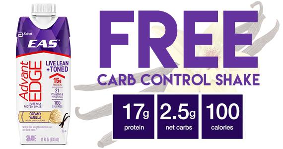 Free Sample of AdvantEDGE Carb Control Shake